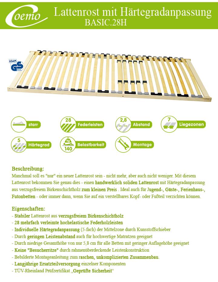 sturdy slats with hardness adjustment 80x200 90x200. Black Bedroom Furniture Sets. Home Design Ideas